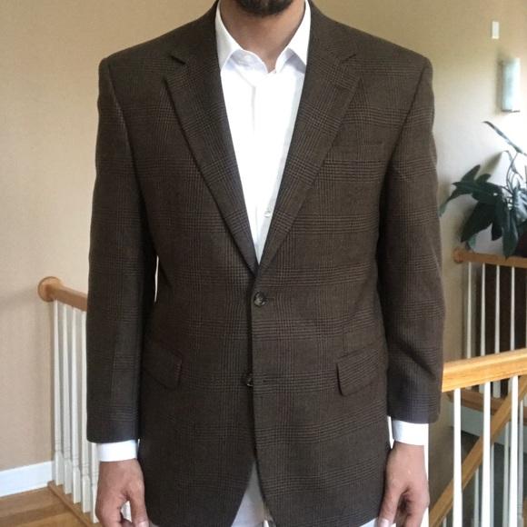 46794e9fa7 New Jos. A. Bank Glen Plaid Wool Sport Coat 41R 2B